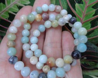 """Amazonite Round 6mm Beads, 15"""" Strand - Exact Strand Shown - Natural Gemstone Beads"""