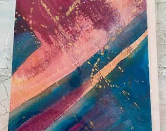 Greeting Card, Hand Painted Greeting Card, Abstract Artwork, Abstract, Cards