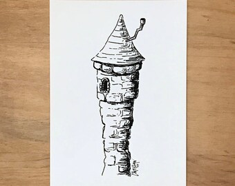 Fairytale Castle Tower Fine Art Print