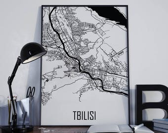 Tbilisi Map Tbilisi Street Map Tbilisi City Map Tbilisi Travel Map Tbilisi Map Poster Tbilisi Map Photo Tbilisi Map Print Tbilisi Map Art
