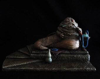 Jabba The Hutt Maquette - handmade/custom Star Wars Statue
