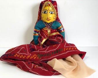 Banjara Doll, Vintage Snake Charmer Cloth Doll