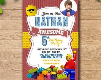 Lego/Lego Birthday Invitation/Lego Party/Lego Birthday/Lego Invitation/Lego Birthday Party/Lego Birthday Party Invitation/Lego Printables