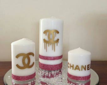 Set of 3 Chanel INSPIRED CANDLES