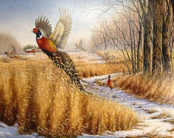 Pheasant Wildlife Cross Stitch Pattern***LOOK***