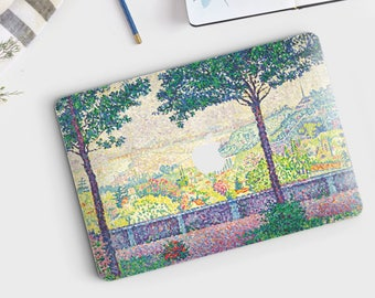 "Paul Signac, ""Terrace in Meudon"". Macbook Pro 15 decal, Macbook Air 13 skin, Macbook 12 sticker. Macbook Pro sticker. Macbook skin Art."