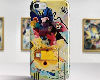 "Vasily Kandinsky ""Yellow-Red-Blue"" iPhone 8 Case Art iPhone 7 Case iPhone 6s Case iPhone 6 Plus Case and more iPhone 8 TOUGH cases."
