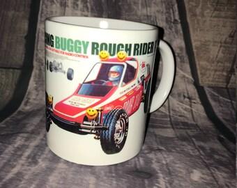 Rough Rider Coffee Mug with optional Keychain, gift for RC lover, RC Car Coffee Mug, Gift for Him, Radio Controlled Car Mug, RC car gift