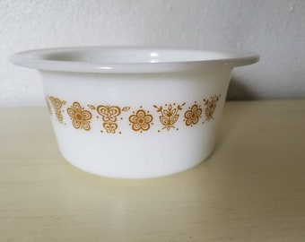 Pyrex Butterfly gold small bowl