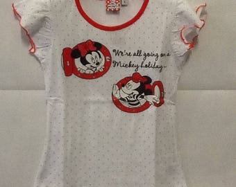 Short sleeve t-shirt t-shirt Minnie and Mickey 6 years (116 cm) baby