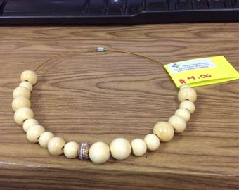 Handmade Beige Necklace