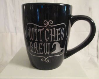 Witches Brew Horror Mug Coffee Cup Gift Home Decor Halloween Kitchen Bar Gift for Her Him Merch Massacre
