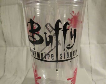 Buffy the Vampire Slayer Horror Tumbler Cup Gift Home Decor Gift for Her Him Any Color Personalized Custom