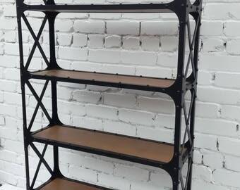 Стеллаж, этажерка большая в стиле лофт, индастриал. Rack, bookcase large, loft-style, industrial