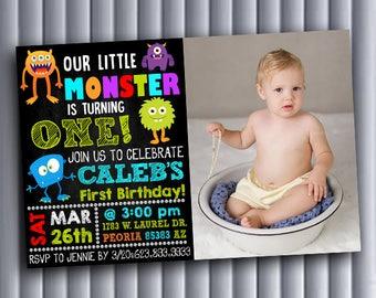 Little monster 1st birthday,Little monster 1st birthday invitations,Little monster birthday,Little monster invitation,Little monster,Monster