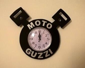 MOTO GUZZI handmade wooden wall clock