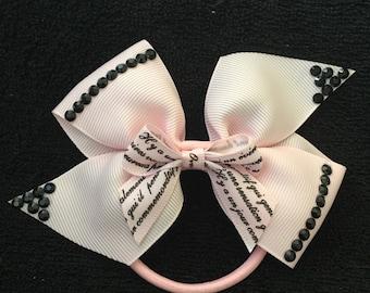 Pink Pinwheel Bow Ponytail