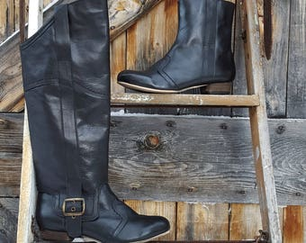 tall riding boot with an ankle boot, 2 for 1, women's size 38