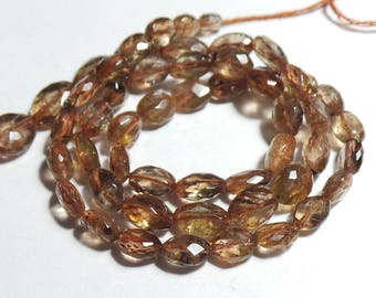 Super Top Quality Natural Andalusite 4x3-8x6 MM Faceted Nuggets Shape  14 Inch Strand
