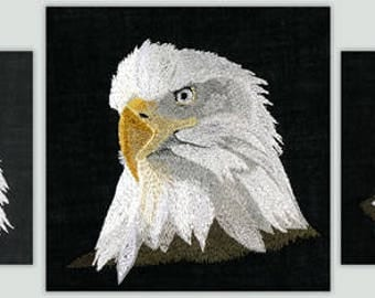 BFC1121 Three Eagles Machine Embroidery Designs