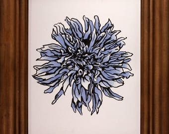 Cornflower Blue Dahlia (original 8x10)