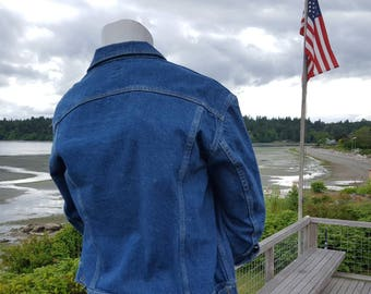 Vintage Lee Denim Jean Jacket 46R Size Mens XL