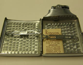 Vintage Ronson Mastercase Cigarette Case Lighter