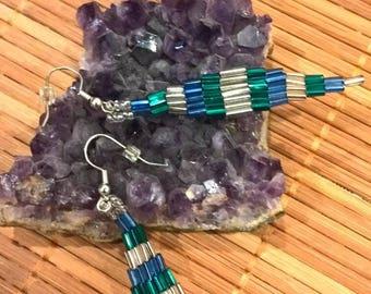 Tube Bead stack earrings