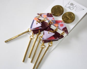 Handmade Abstract Drop Dangle Tassel Coin Earrings