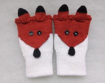 Free Shipping - Ginger Fox, Fingerless gloves,