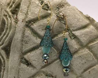 Drop Jeweled Earrings