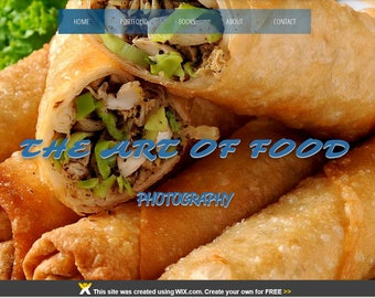 WIX Premade Website Template/Food Photography