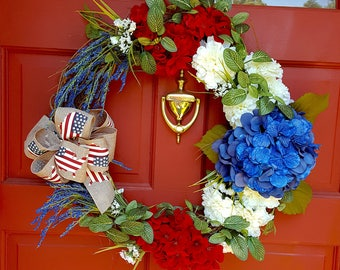 "4th of July ""Fireworks"" Festive Floral Wreath"