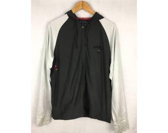 TOMMY HILFIGER Long Sleeve Hoodies Medium Size Fully Zipper
