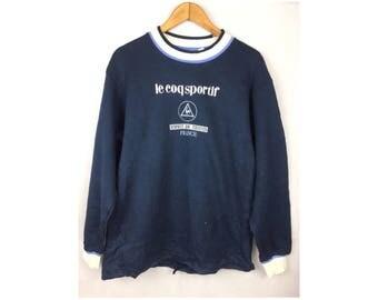 Le Coq Sportif Long Sleeve Sweatshirt Esprit de Tennis France Large Size
