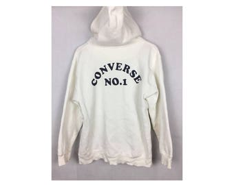 CONVERSE Hoodies Large Size with Big Spell Out Logo at Back