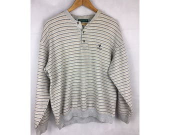 LYLE & SCOTT Collection Large Size Sweatshirt Embroidered Logo Long Sleeve