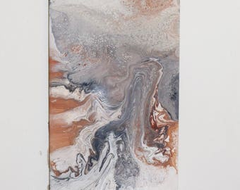 Gallaecia, Fluid Acrylic Marble Abstract Painting