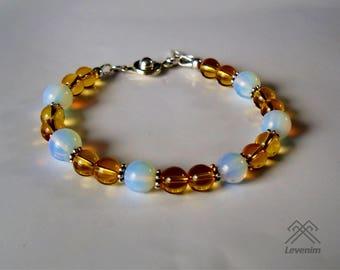 Citrine and Opalite bracelet