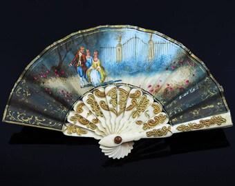 Antique Dollhouse Miniature Fan