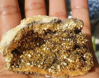 Gold Aura Quartz -- 24k Gold Aura Quartz