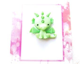 Dragon pin green Dragon pin Dragon brooch Dragon jewelry Dragon badge green Dragon jewellery green Dragon mother of dragons game of thrones