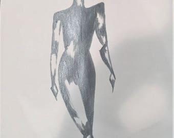 Dressed in Silver Armor // Acrylic Female figure