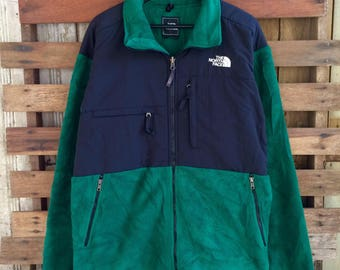 Vtg 90s the north face jacket green colour with style zipper !