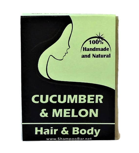 Cucumber Melon Soap - Hair And Body Soap - Natural Body Wash - Solid Shampoo Bar - Palm Oil Free Soap - Bath Products - Natural Body Soap