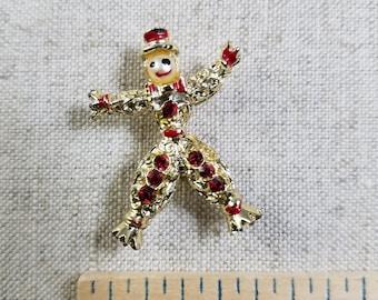 Antique Ruby Gemstone Clown Pendant