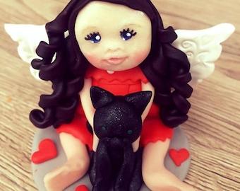 Clay Fairy, Polymer Clay Fairy, Beautiful fairy,  Fairy Clay