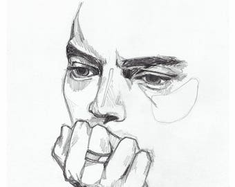 Harry Styles *Pensive* - Art Print