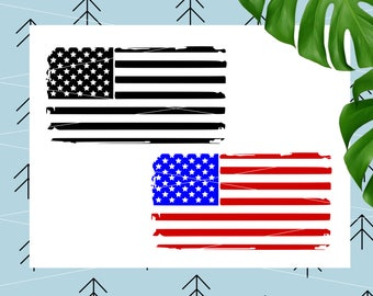 Distressed flag svg 4th of July SVG Us Flag svg files for cricut svg files for silhouette cutting file png dxf eps lfvs