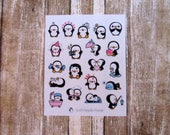Penguin mix sheet stickers, Penguin does things, Penguin character sticker, cute penguin sticker, planner sticker, functional sticker